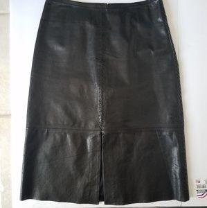 NWOT Banana Republic Leather Skirt  2
